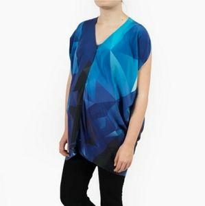 Kinwolfe silk nursing/maternity shirt